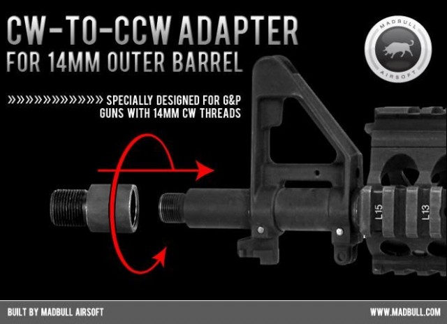 Cw to CCW adapter Madbull Airsoft