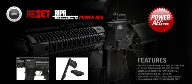 Madbull Airsoft RIPR Rifle Integrated Power Rail AEG