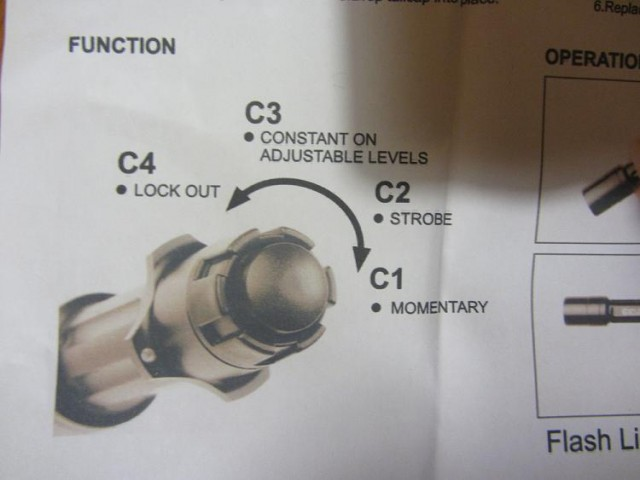 Review Element Cyclops Flashlight instructions