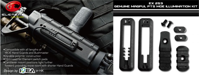 EX 253 Element Magpul PTS MOE Illumination Kit Black2