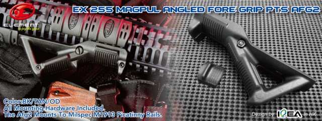 EX 255 Magpul Angled Fore Grip PTS AFG with Box Sand Digital2