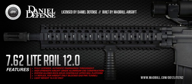 Madbull Airsoft Daniel Defense Lite Rail 12.0