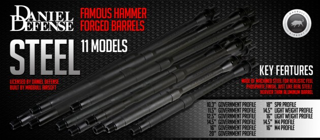 Madbull Airsoft Daniel Defense Steel Outer Barrel