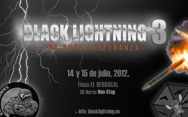 Cartel partida Black Lightning 3