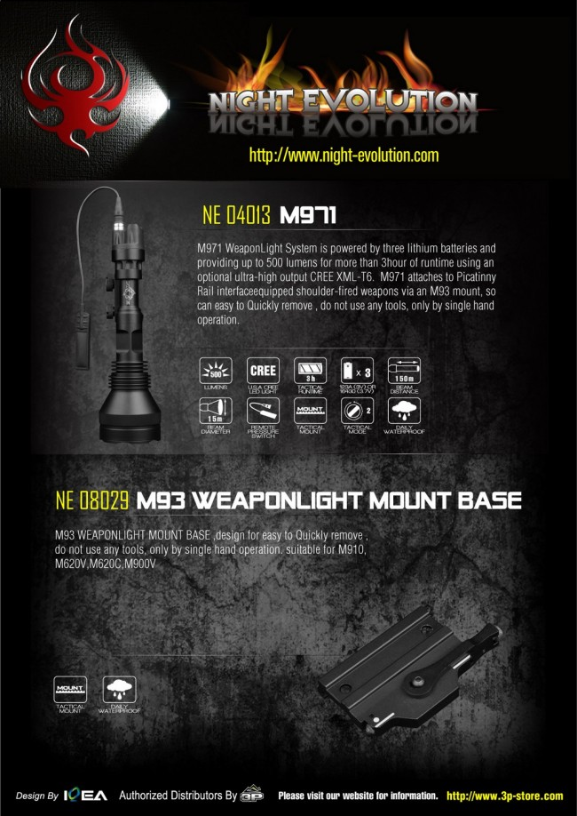 Night Evolution M971 Specs