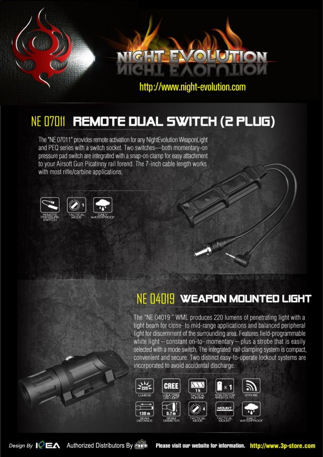 Night Evolution Weapon Mounted Light Specs