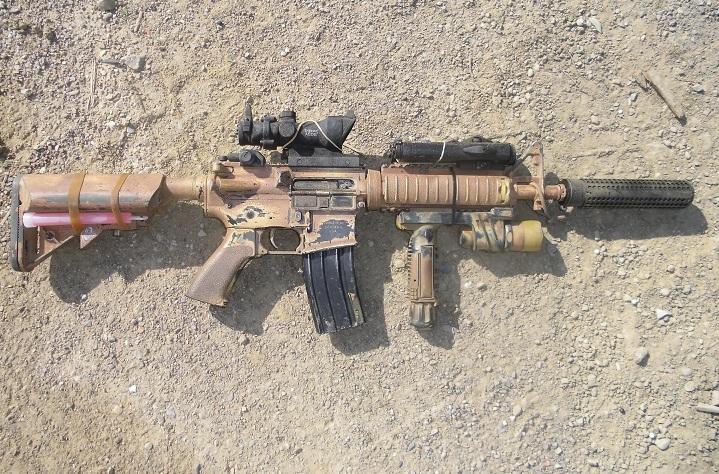 mk18 m4 silenciador kac