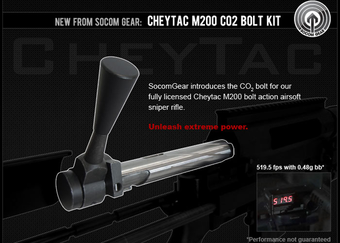 Kit Bolt CO2 Cheytac M200 SOCOM GEAR