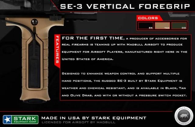 Madbull Stark SE-3 vertical Foregrip