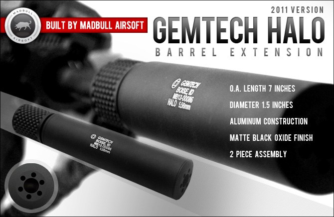 Madbull Airsoft Gemtech Halo 2011 Barrel Extension