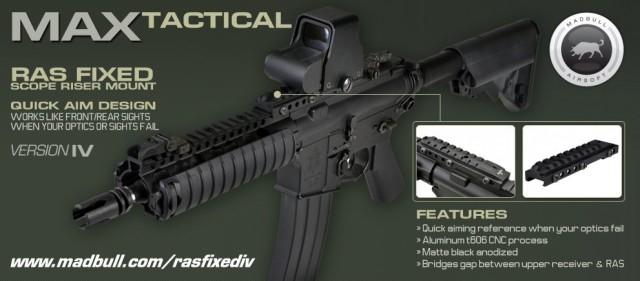 Madbull Airsoft MAX Tactical RASFIX IV poster