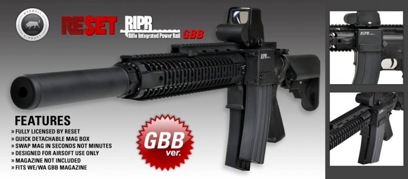 Madbull Airsoft RIPR Rifle Integrated Power Rail GBB