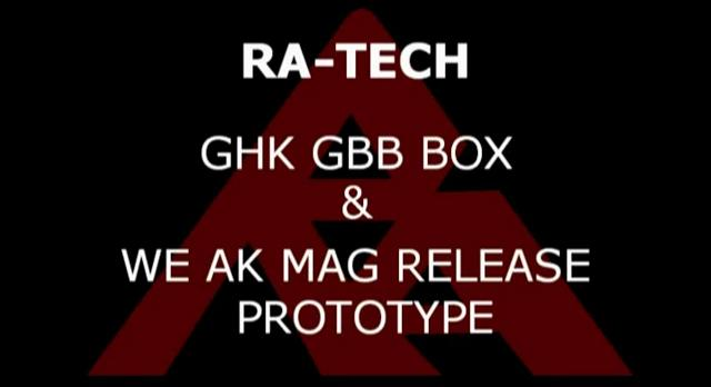 RaTech GHK GBB Box WE AK Mag Release