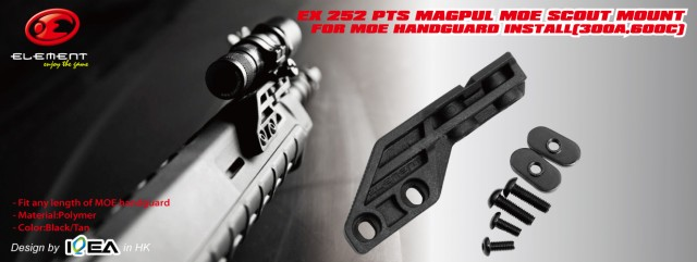 EX 252 Element Magpul PTS MOE Scout Mount For MOE handguard Install(300a,600c)