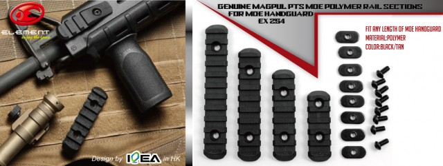 EX 254 Element Magpul PTS MOE Polymer Rail Sections For MOE handguard2