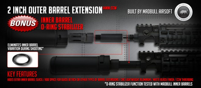 Madbull Airsoft Barrel Extension