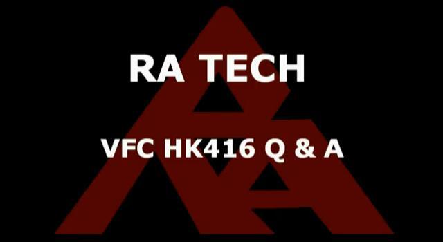 Vega Force Company HK416 GBB Preguntas y Respuestas por RaTech