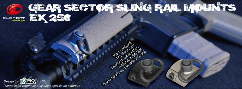 Element GEAR SECTOR SLING RAIL MOUNTS