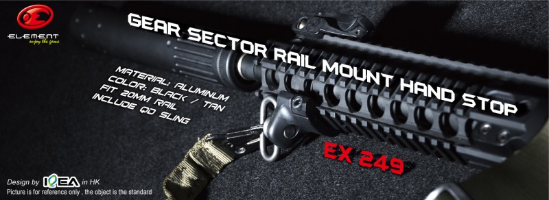 Element EX 249 GEAR SECTOR RAIL MOUNT HAND STOP