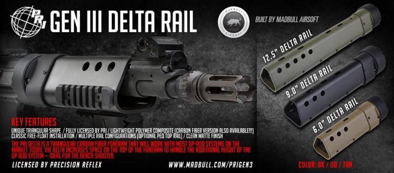 Madbull Airsoft PRI Delta Rail Gen III