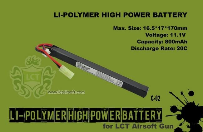 LCT LiPO 11.1V 800 mAh
