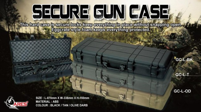 ARES Airsoft Pelican Case replica