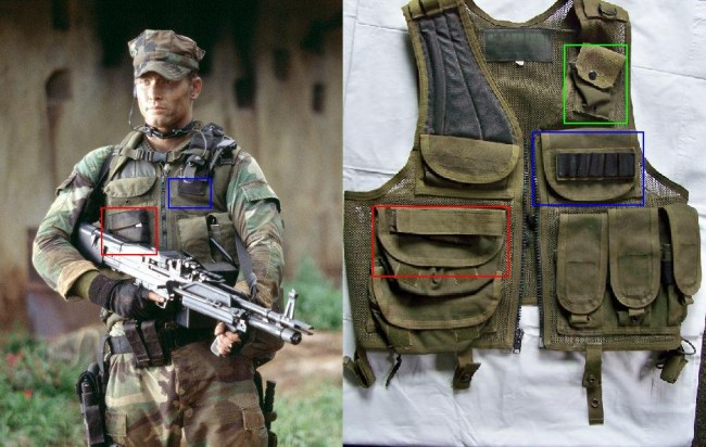 Red modified blackhawk vest