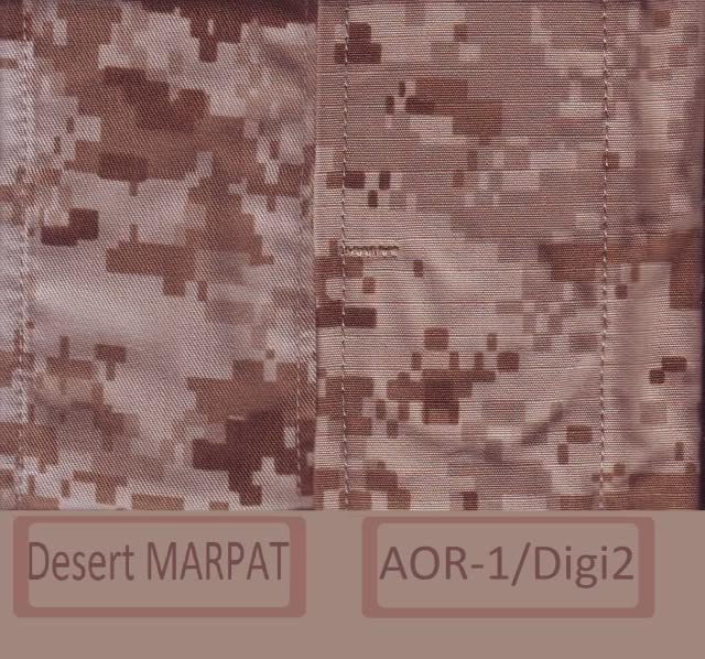 Marpat Desert AOR1 comparative