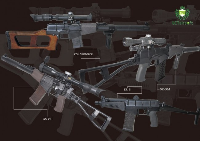 LCT sniper rifles AS VAL VSS Vintorez