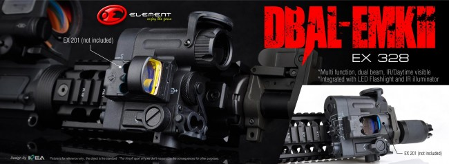 New element DBAL illuminator pointer combo