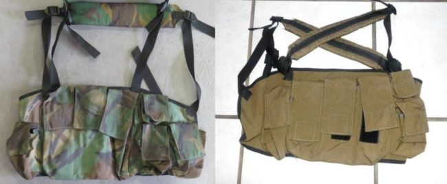 SADF P83 CHEST RIG (1) Ammunition Carrying Breast Pouch DPM Nutria Brown Executive Outcomes