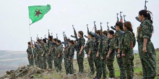 YPJ kurdish kurdas militia flag