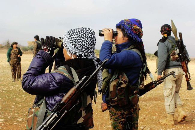 YPJ kurdish kurdas militia marpat civilian clothes