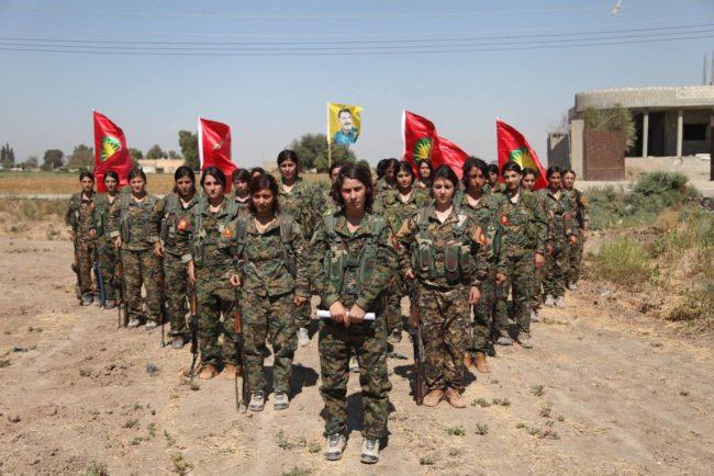YPJ women Kursdish Kurdas